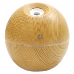 Humidificador aroma forma esfera madera pino