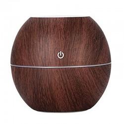 Humidificador aroma forma bola madera palo de rosa