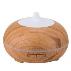Humidificador aroma forma bola con luz madera pino