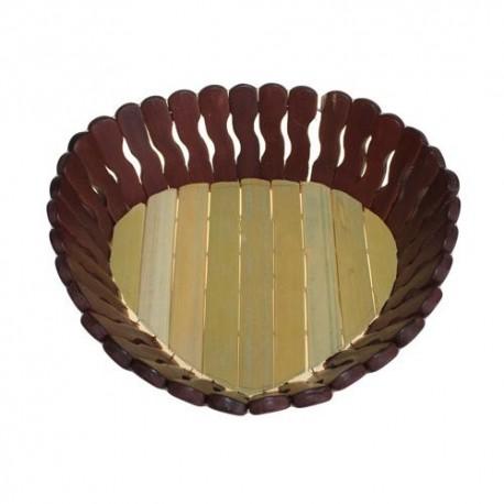 5 Cestas bambú - corazón 22cm