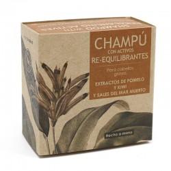 3 Champú sólido cabellos gratos - con activos REEQUILIBRANTES