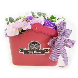 Cesta ramo de flores jabón - Lila