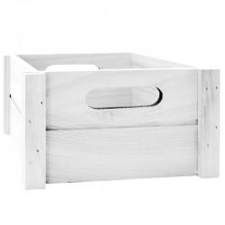Caja madera blanca 18x18x9,5cm