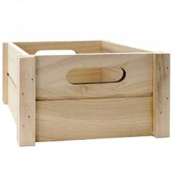 Caja madera natural 18x18x9,5cm