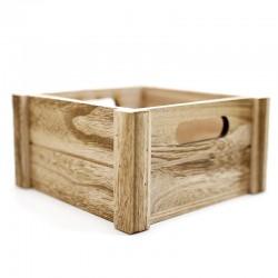 Caja madera vintage 18x18x9,5cm
