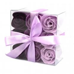 3 Sets 9 flores jabón - rosas lavanda