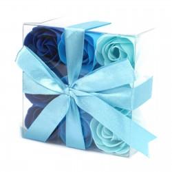 3 Sets 9 flores jabón - rosas azules