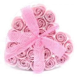 1 Sets 24 flores jabón - rosas rosas