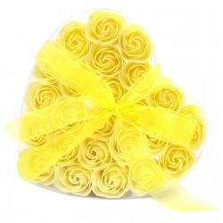 1 Sets 24 flores jabón - rosas amarillas