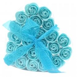 1 Sets 24 flores jabón - rosas azules