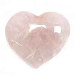 Piedras corazón - cuarzo rosa 280 a 300gr.
