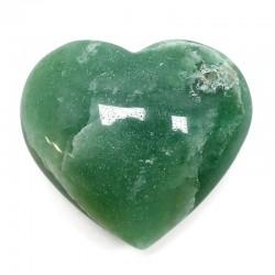 Piedras corazón - cuarzo verde 260 a 280gr.