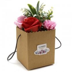 1Bouquet Kraft - flores rojas