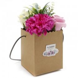 1Bouquet Kraft - flores rosas
