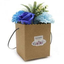 1Bouquet Kraft - flores azules