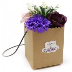 1Bouquet Kraft - flores moradas