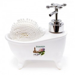 Bañera dispensador jabón con esponja - hydrangea