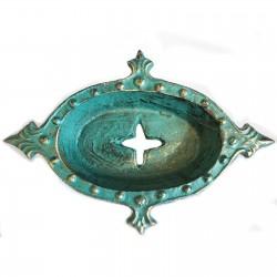 1 Jabonera hierro fundido arte verdigrís
