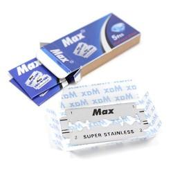 20 packs de 5 hojas de afeitar super - max platinum