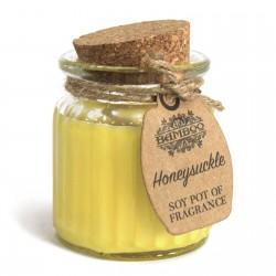 6 Velas de cera de soja tarro - madreselva