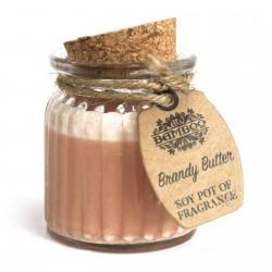 6 Velas de cera de soja tarro - mantequilla brandy
