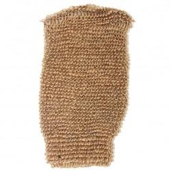 12 Guantes yute elástico - marrón