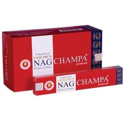 12 packs Incienso Golden Nag - Champa 15 gr