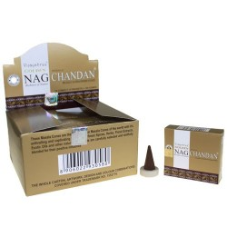 12 packs Incienso Golden Chandan Conos 15 gr