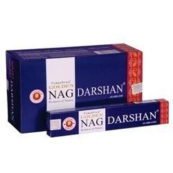 12 packs Incienso Golden Nag - Darshan 15 gr