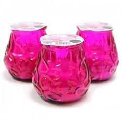 3 Velas en vaso bistrot lirio y orquídea