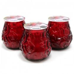 3 Velas en vaso bistrot fruta del bosque