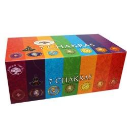12 packs Incienso Green Tree - 7 Chakras