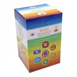 12 packs Incienso Green Tree - Chakras 7 packs
