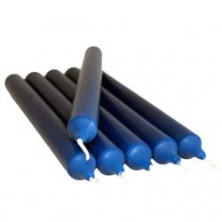 30 Velas candelabro - azul marino