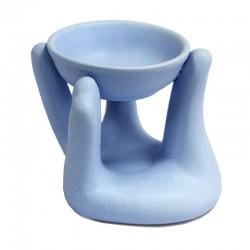 3 Quemadores fragancias - mano azul