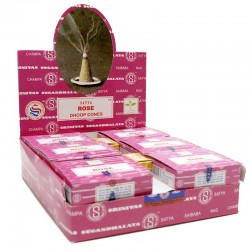 12 packs Conos de Incienso Nag Champa - Rosa