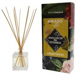 Mikado varillas aroma rosa turca 100 ml.