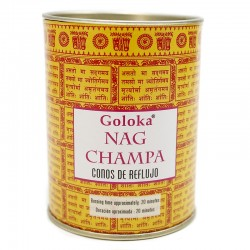 6 packs 18 conos incienso reflujo Goloka - Nag Champa