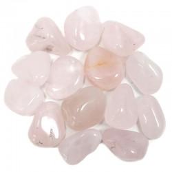 Piedras naturales irregulares - cuarzo rosa 200gr.