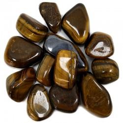 Piedras naturales irregulares - ojo de tigre 200gr.