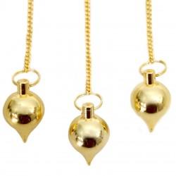 Péndulos especiales - metal dorado
