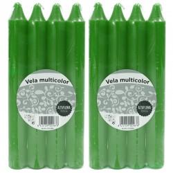 24 Velas candelabro - 24 Verde