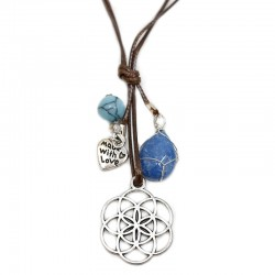 3 Colgantes flor de la vida jade