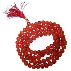 108 Bead mala - carnelia