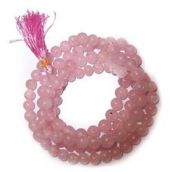 108 Bead mala - cuarzo rosa