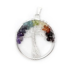 3 Colgantes árbol de la vida 7 chakras