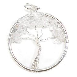 3 Colgantes árbol de la vida cristal