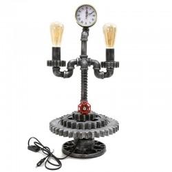Lámpara de mesa reloj vintage