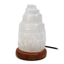 2 Lámparas selenita USB catedral 10cm blanca