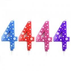 4 Velas número 4